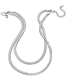 Thalia Sodi Herringbone Double Chain Necklace, Created for Macy's