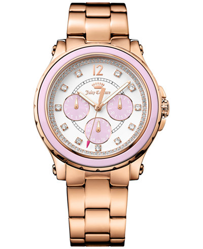 Juicy Couture Women's Hollywood Rose Gold-Tone Bracelet Watch 38mm 1901383