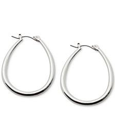 Lauren Ralph Lauren Silver-Tone Teardrop Hoop Earrings