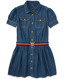 Ralph Lauren Little Girls Denim Shirtdress