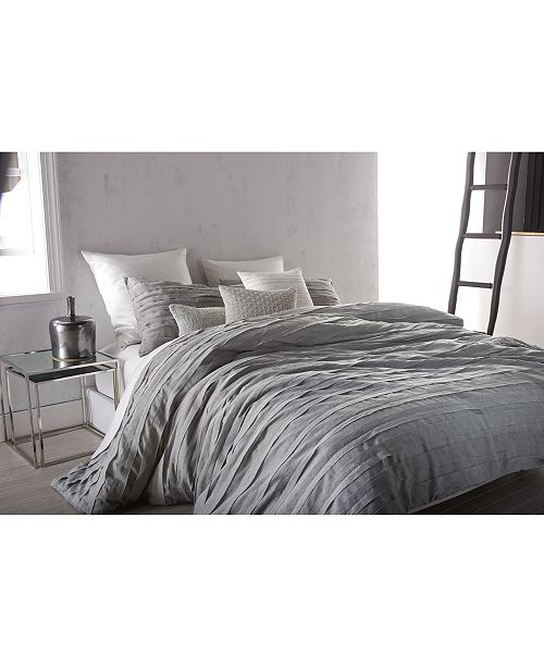Dkny Loft Stripe Gray King Duvet Cover Duvet Covers
