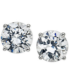 Certified Diamond Stud Earrings 5 8 Ct T W In 14k Gold Or