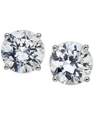 Macy S Certified Diamond Stud Earrings 5 8 Ct T W In 14k Gold Or
