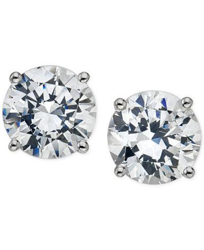 Certified Diamond Stud Earrings 5 8 Ct T W In 14k Gold Or
