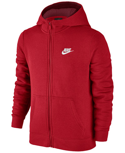 Nike Full Zip Club Hoodie Big Boys Coats Amp Jackets