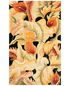 Kas Catalina 759 Black Calla Lilies Area Rugs