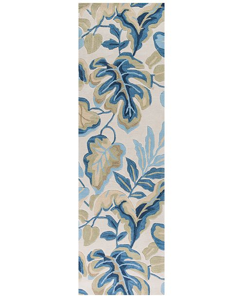 "Kas Coral 4169 Ivory Exotics 2'3"" x 7'6"" Runner Rug"