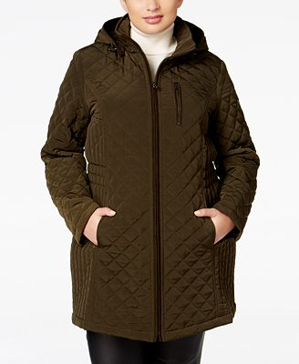 Laundry by Design Plus Size Hooded Quilted Jacket