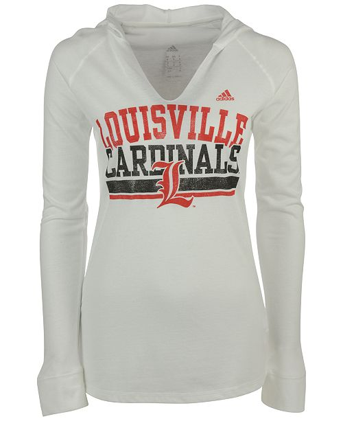 adidas Women's Louisville Cardinals Weathering Hooded T