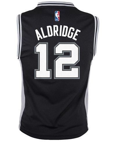adidas Kids' LaMarcus Aldridge San Antonio Spurs Revolution 30 Jersey, Big Boys (8-20)