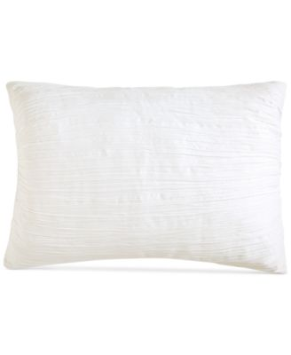 City Pleat White Standard Sham