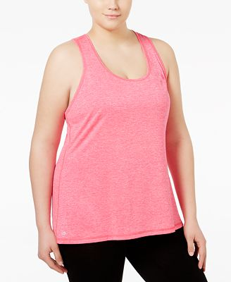 Ideology Plus Size Essential Racerback Performance Tank Top, Created for Macy's