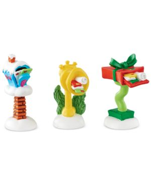 Department 56 Grinch Village, Who-Ville Wacky Mailboxes, Set of 3 2832464