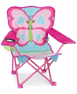 Melissa U0026 Doug Girlsu0027 Cutie Pie Butterfly Camp Chair