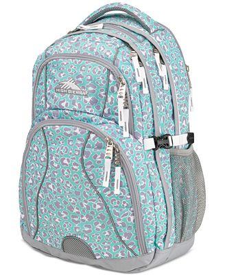 High Sierra Swerve Backpack in Mint Leopard