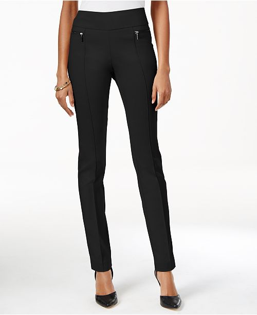 Style & Co Petite Seamed Pull-On Skinny Pants, Created for Macy's