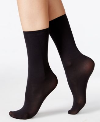 Hanes Womens Perfect Socks Opaque Anklet
