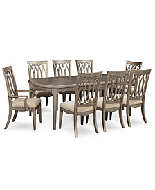 Kelly Ripa Home Hayley 9-Pc. Dining Set (Dining Table, 6 Side Chairs & 2 Arm Chairs)