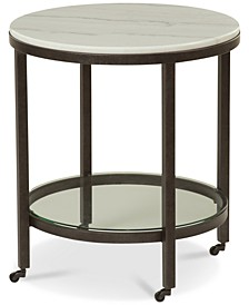 Stratus Round End Table, Created for Macy's