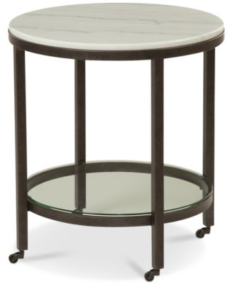 stratus round end table created for macyu0027s - Macys Coffee Table