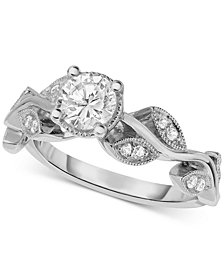 Diamond Vine-Inspired Engagement Ring (5/8 ct. t.w.) in 14k White Gold