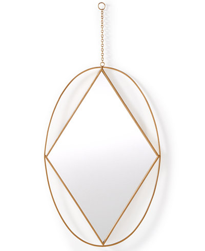 Home Design Studio Oval Pendant Mirror, Only at