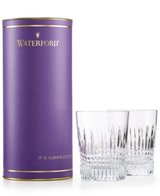 Giftology Lismore Diamond Collection Crystal Tumbler Glasses, Set of 2
