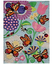 Momeni Lil Mo Whimsy LMJ-26 Butterfly Multi Area Rugs