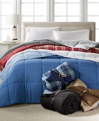 Home Design Down Alternative Color Comforters, Hypoallergenic, Created for Macy's
