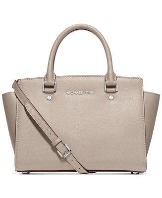 fdc8dfdd7c1f ... MICHAEL Michael Kors Selma Medium Satchel - Handbags Accessories -  Macys ...