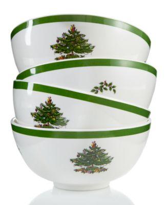 Christmas Tree Set/4 Melamine Bowl