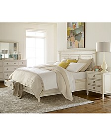 Sag Harbor White Bedroom Collection, 3 Piece Set (Storage Queen Platform Bed, Dresser & Nightstand)