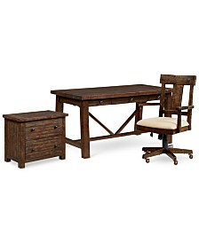 Ember Home Office Furniture, 3-Pc. Set (Desk, Lateral File Cabinet & Desk Chair)