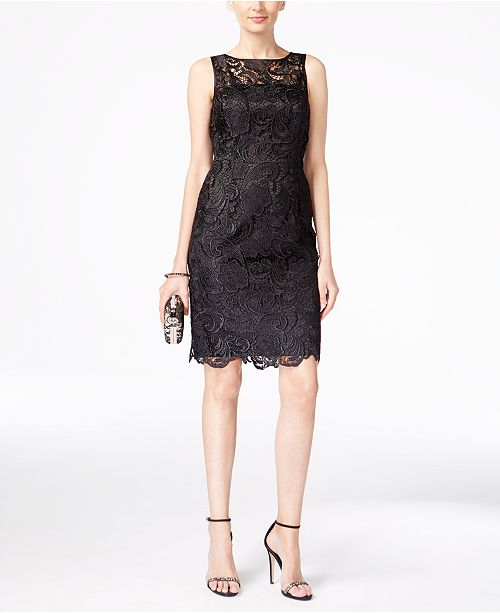 683f424d Adrianna Papell Lace Sheath Dress & Reviews - Dresses - Women - Macy's