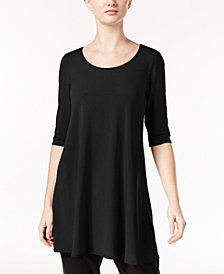 Eileen Fisher Stretch Jersey Scoop-Neck Tunic, Regular & Petite