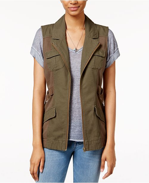 2530acbcc3461 American Rag Utility Vest, Created for Macy's & Reviews - Jackets ...