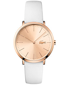Lacoste Women's Moon White Leather Strap Watch 35mm 2000949