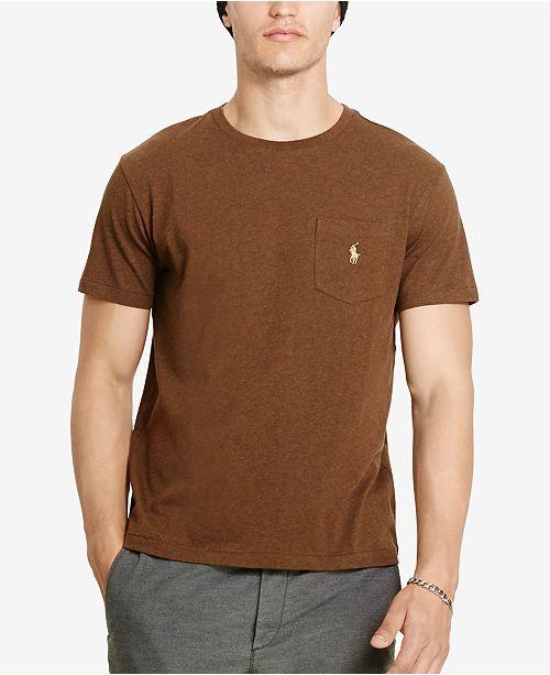7142a3a46e1e6 ... Polo Ralph Lauren Men s Cotton Jersey Pocket Crewneck T-Shirt ...