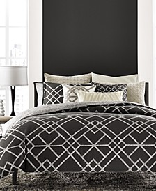 LAST ACT! Modern Airbrush Geo Bedding Collection, Created for Macy's
