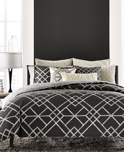LAST ACT! Hotel Collection Modern Airbrush Geo Bedding Collection, Created for Macy's