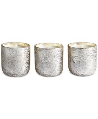 Luxe Mini Sanded Mercury Glass Trio Candle Set