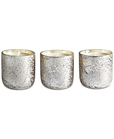 Luxe Mini Sanded Mercury Glass Trio Candle Set