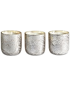 Illume Luxe Mini Sanded Mercury Glass Trio Candle Set
