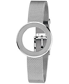 Gucci Women's Swiss U-Play Stainless Steel Mesh Bezel & Bracelet YFA50044