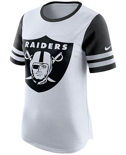 Nike Women s Oakland Raiders Gear Up Fan Top T-Shirt - Sports Fan ... 5a6369983