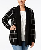 Charter Club Plus Size Cashmere Shawl-Collar Cardigan Only at Macys