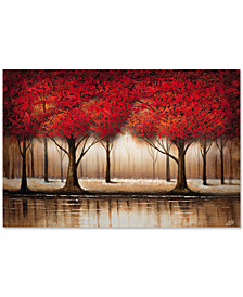 "'Parade of Red Trees' by Rio 16"" x 24"" Canvas Print"
