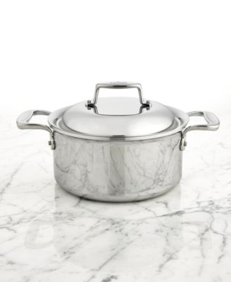 allclad d7 stainless steel 35qt round dutch oven
