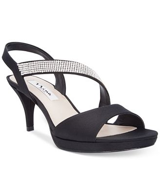 Nina Novelle Asymmetrical Evening Sandals