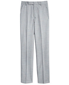 Calvin Klein Sharkskin Deco Suiting Pants, Big Boys Husky